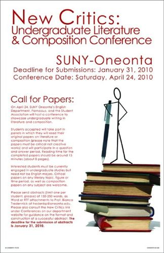 New Critics Conference at SUNY-Oneonta