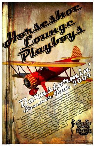 HLP Barnstormin' Summer 2009 Tour Poster